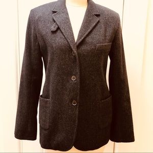 Jil Sander Wool Blazer Jacket Lined Button Front